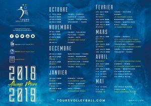 calendrier saison 2018/2019